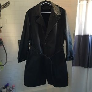 1970's Black Trench Coat